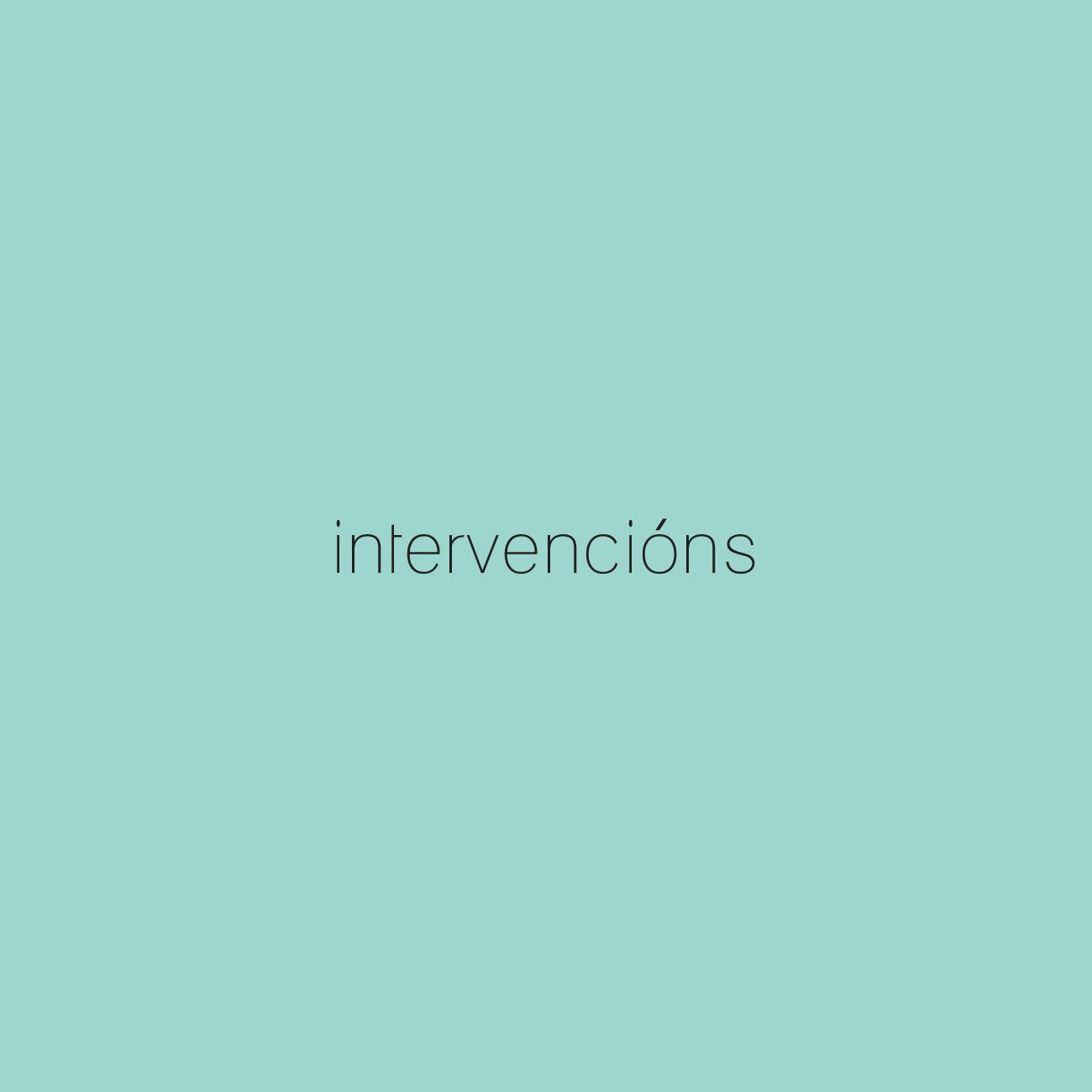 Intervencións